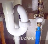 洗面排水の水漏れ修理