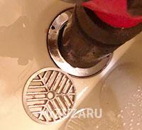 お風呂の排水口つまり