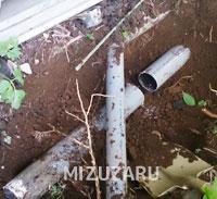 屋外の排管修理