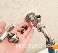 洗濯水栓の修理
